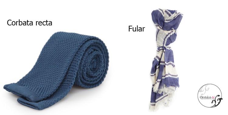 Las corbatas de punto y los fulares son un complemento que pueden dar un aire distinto al look de siempre
