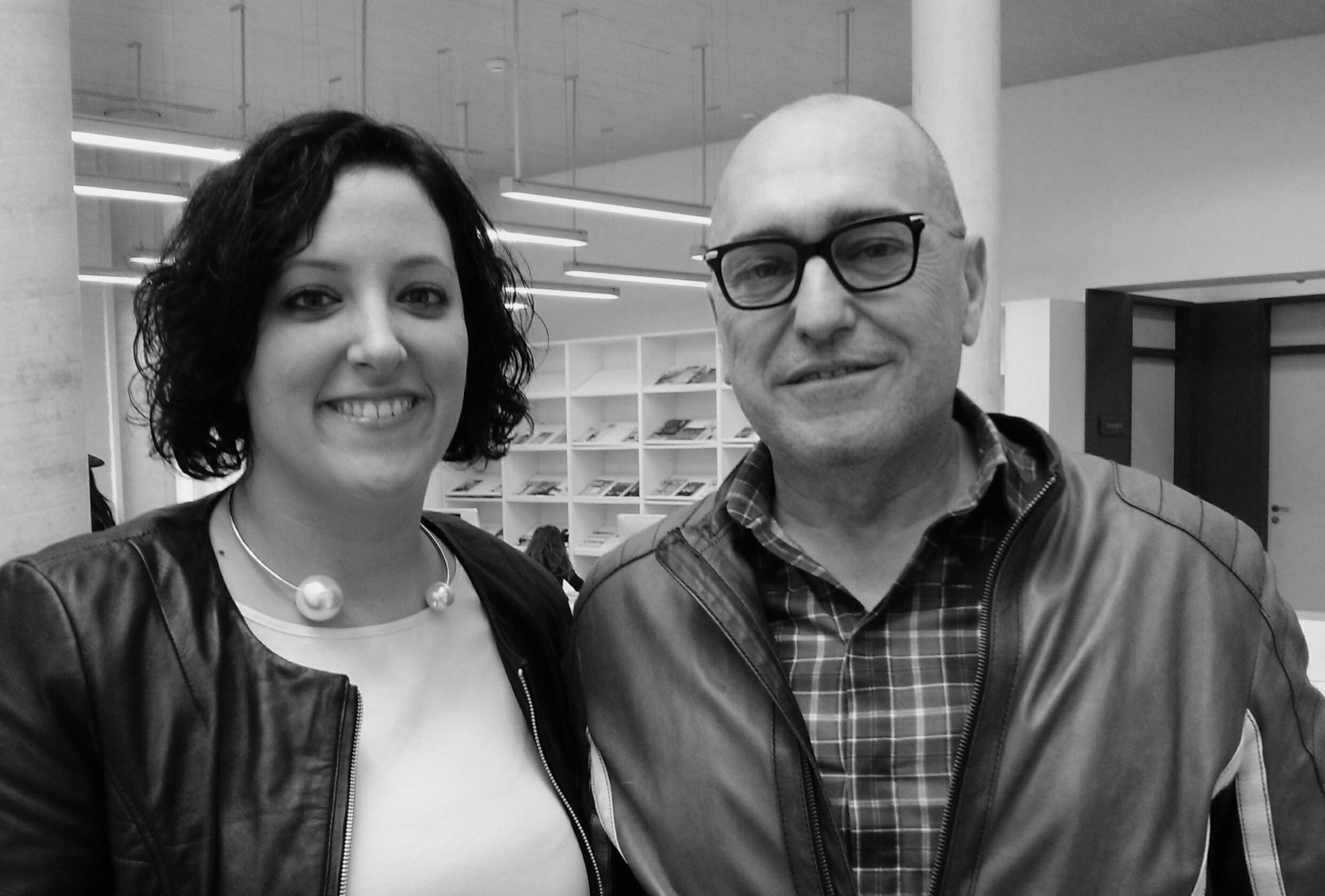 Con Josep Lozano al inicio de la conferencia celebrada en Las Naves