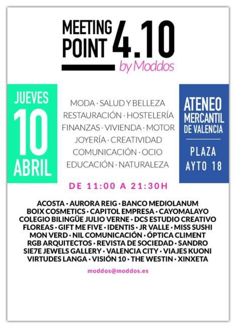 El Meeting point 4.10 del Club Moddos se celebrará en el Ateneo Mercantil el próximo 10 de abril