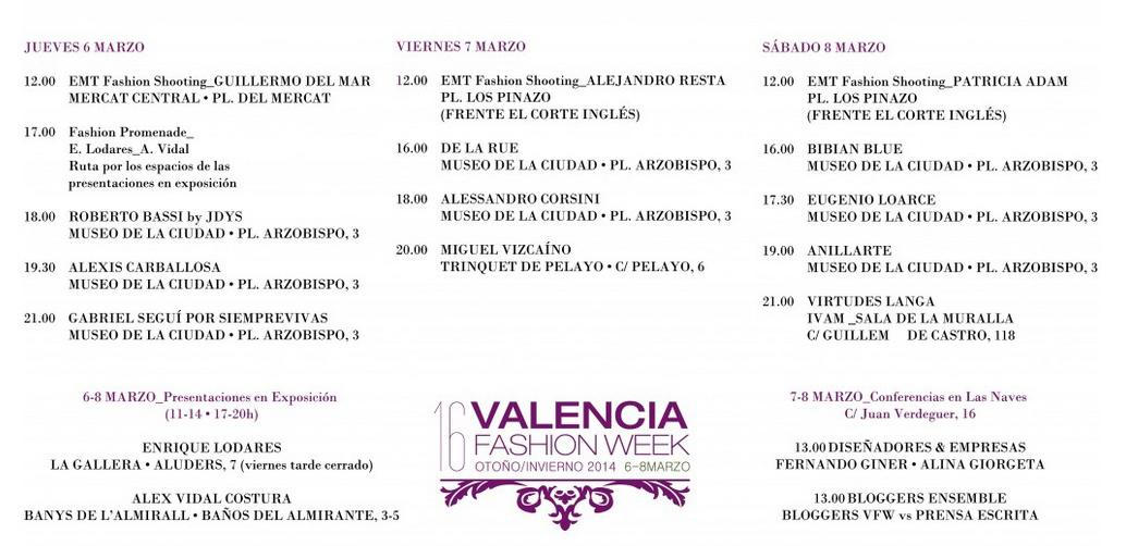 Programación Valencia Fashion Week