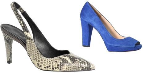Zapatos de piel y ante azul de Gloria Ortiz. De venta en El Corte Inglés