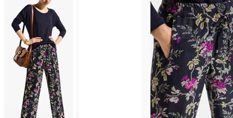 Pantalón floral de Massino Dutti