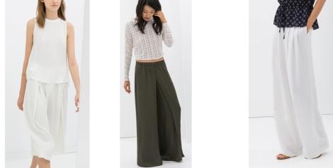 Modelos de pantalón de pata de elefante de Zara
