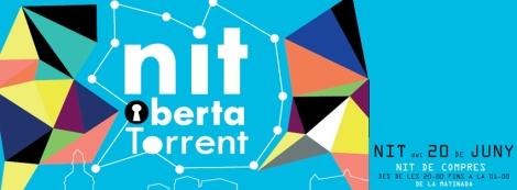 Imagen oficial de la nueva edición de la Nit Oberta Torrent
