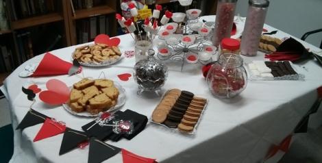 Mesa dulce preparada para el curso de wedding planner en la EIP Valencia