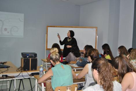 Durante mi intervención en el curso