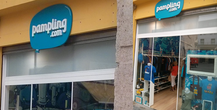 Imágenes de la tienda de Pampling en la plaza de la Mercé en Valencia