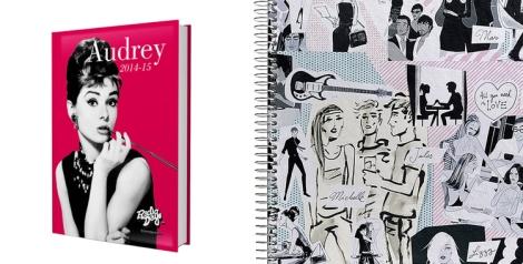 Agenda Audrey Hepburn y JordiLabanda para Miquel Rius. Ambas de venta en El Corte Inglés