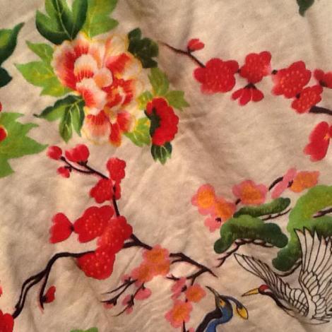 Estampado de Kimono de invierno que compré en Sanghai en diciembre de 2009