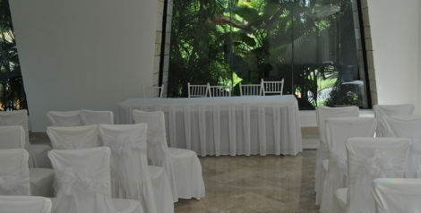 Sala de boda interior, ideal para días de tormenta