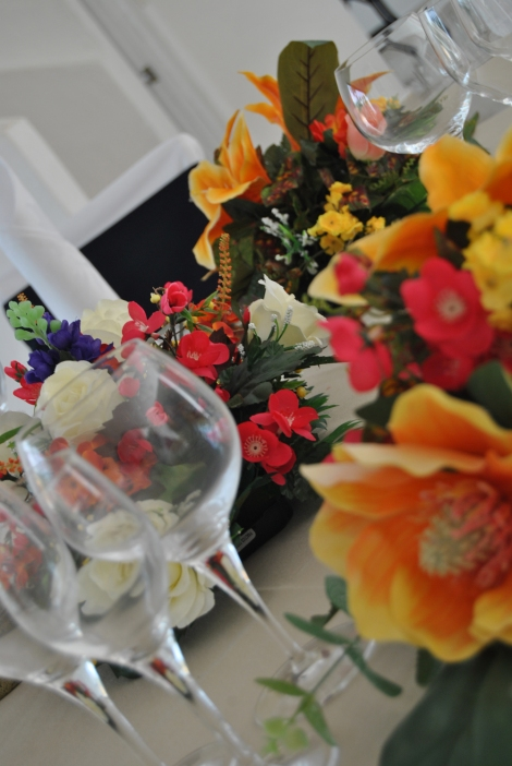Las flores son un elemento importante de decoración