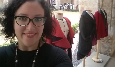 Visitando la exposición de moda
