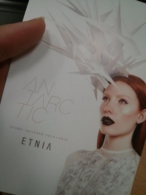 Invitación de Etnia Cosmetics a la presentación de Antartic