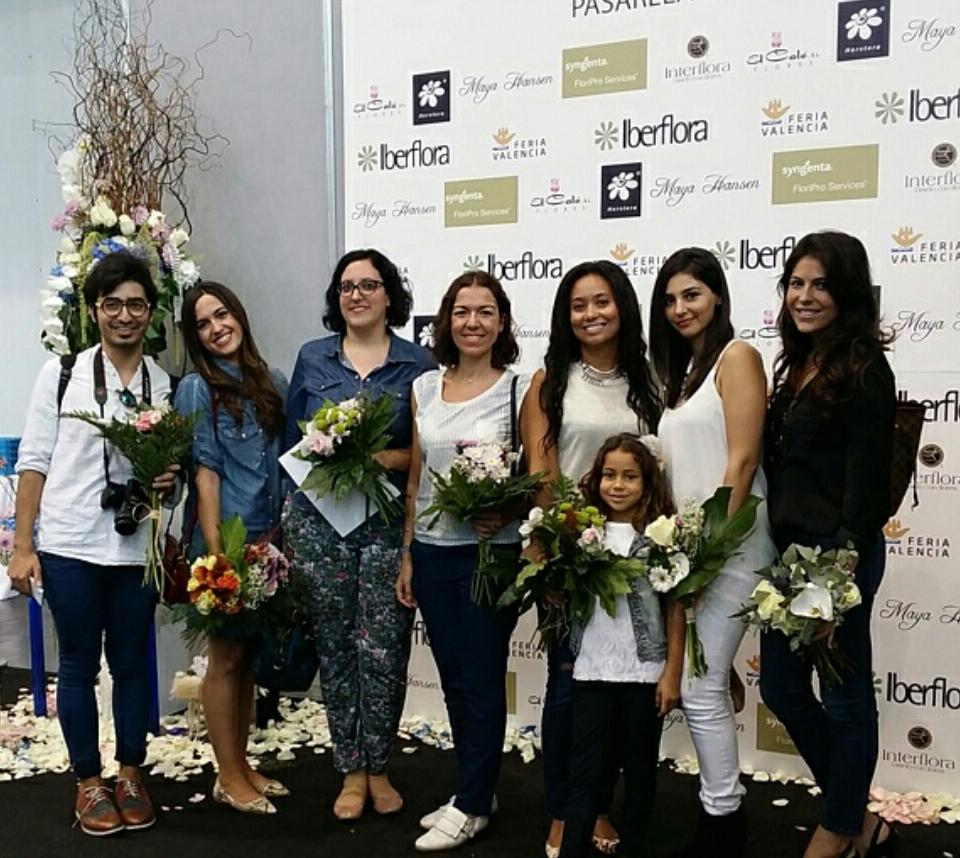 Bloggers en el photocall tras el desfile