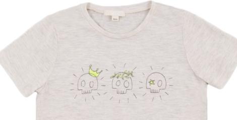 Camiseta de algodón con calaveras de Smallable