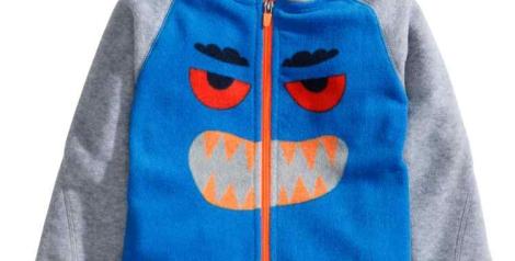 Detalle monstruo sudadera de H&M de niño