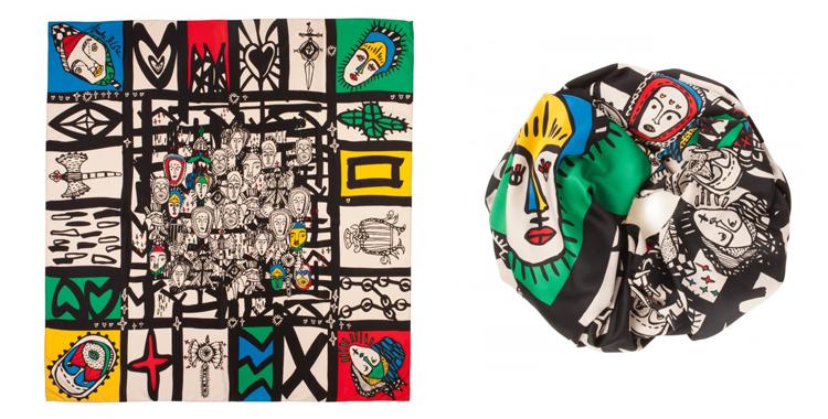 Azul, verde, amarillo, rojo y negro en un divertido diseño de Bimba&Lola