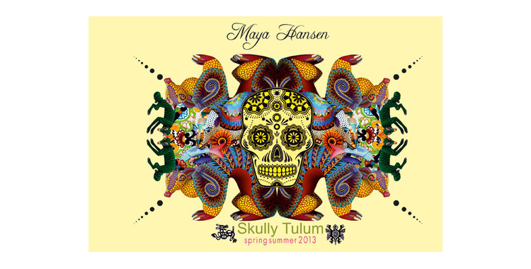 Imagen oficial de Skully Tulum de Maya Hansen. Colección primavera verano 2013