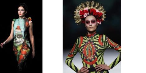 Evidente inspiración del día de Muertos y de la Virgen de Guadalupe en los diseños de Maya
