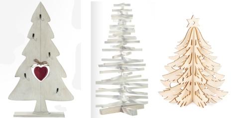 Distintos modelos de árboles alternativos de Casa. El tercero es de mesa y es de Zara Home