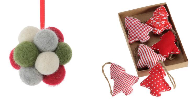 Bola de fieltro y rboles de patchwork el corte ingl s - Bolas de navidad de fieltro ...