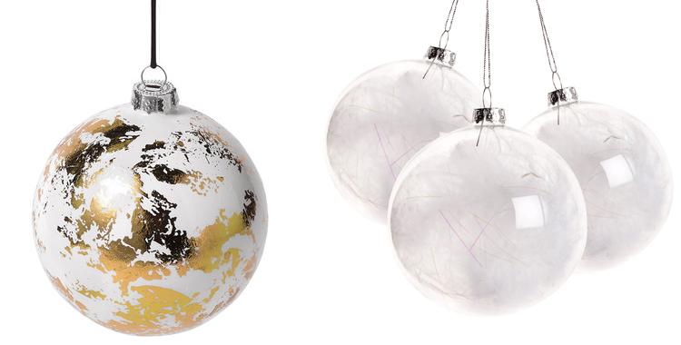 Bola de navidad oro espejo el corte ingl s y bolas transparentes plumas zara home decoraci n - Bolas navidad transparentes ...