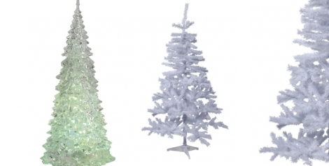 Árbol con luz interior y árbol de color blanco de Casa