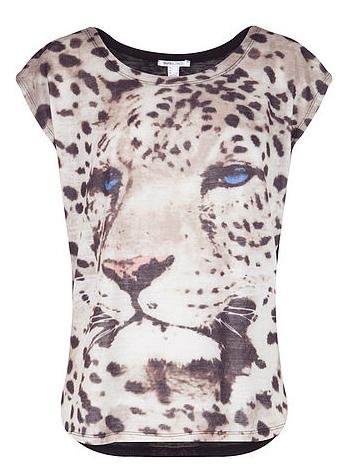 Camiseta Animal Print de Blanco. Precio: 15.99 euros
