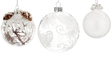 Maravillosas bolas de Maisondumonde con perlas, lagrimas, o mariposas de tela