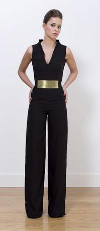 Mono Panambi negro con cinturón dorado