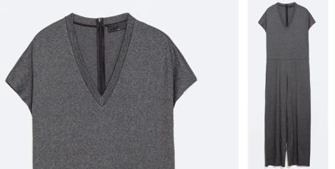 Mono amplio de Zara en color gris
