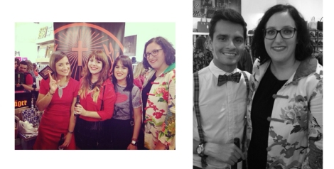 Con Raquel Costa, Victoria Moyano y Lidia Villalba. También tuve la oportunidad de saludar a Sebastián Chavarriaga
