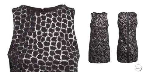 Vestido de lentejuelas en negro y plata de H&M