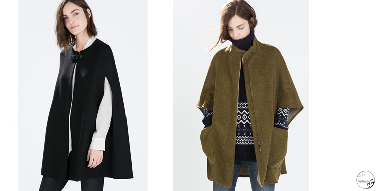 Capas tipo abrigo de Zara
