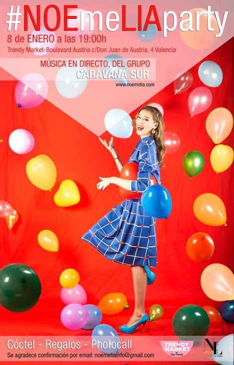 Cartel oficial de la revista Noemelia en el Trendy Market