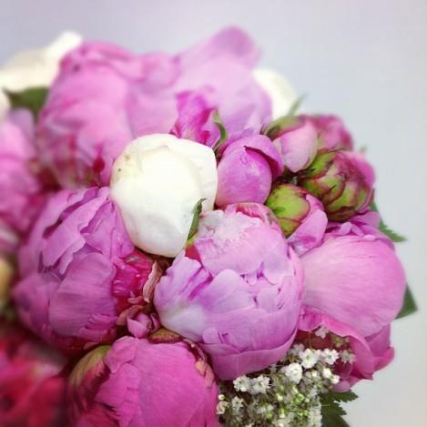 Detalle de ramo de novia de Adrimar Floristas