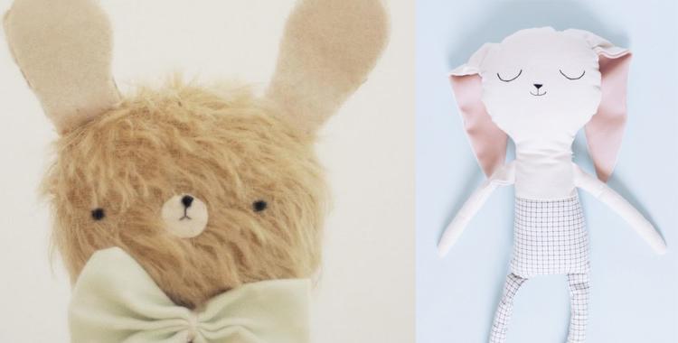 Los peluches de Lelelerele son adorables y una apuesta por lo especial del handmade
