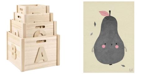 Cajas de almacenaje y láminas de Zara Home