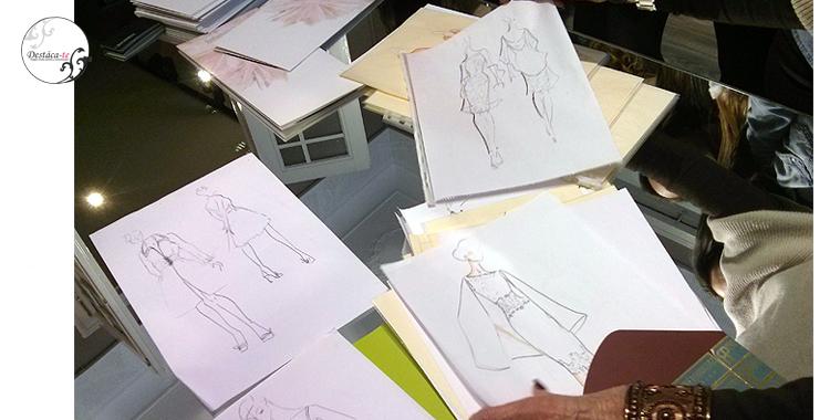 Algunos de los bocetos de Presen