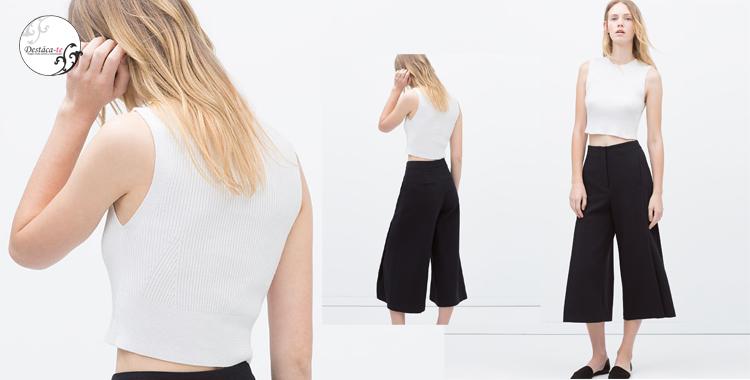 Culotte básico de Zara de corte clásico