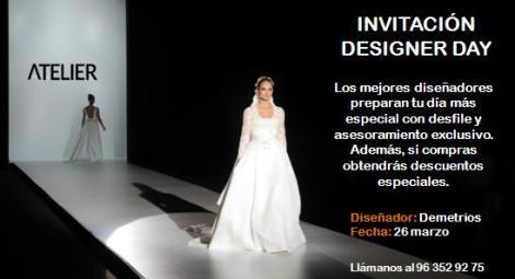 Invitación próximo evento Demetrios en Atelier