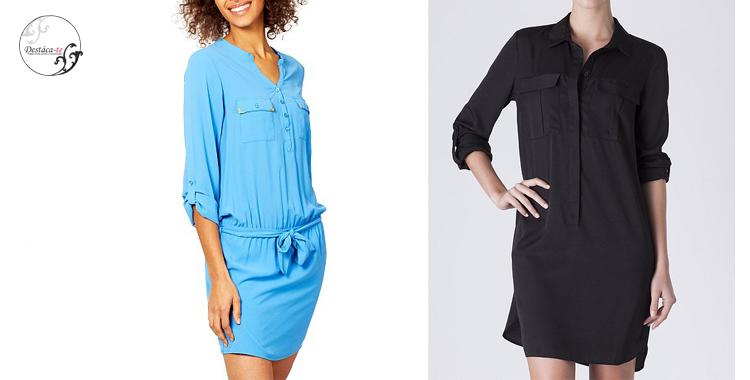 Vestidos en azul y negro de Kiabi y Suite Blanco