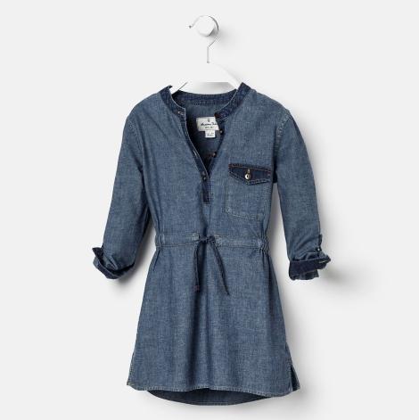 Vestido tejano contrastes de Massimo Dutti