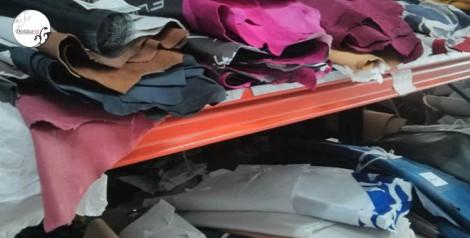 Detalle de tejidos y pieles en el almacén de Magrit, todos ellos de primera calidad
