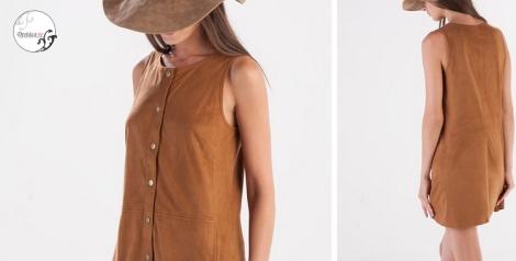 Vestido botones años 70 otoño invierno