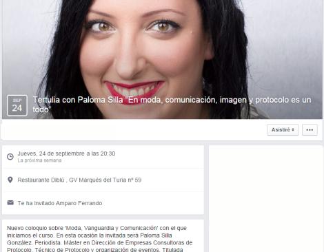 coloquio COSO MODA Paloma Silla Destáca-te imagen comunicación protocolo moda