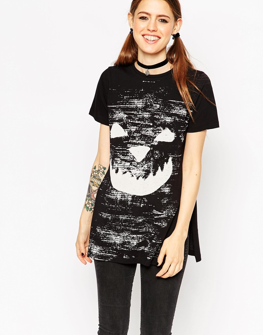 Camiseta sonrisa calabaza Asos Halloween Destaca-te