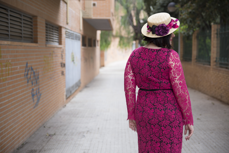 Vestido cóctel y canotier tallas grandes Paloma Silla