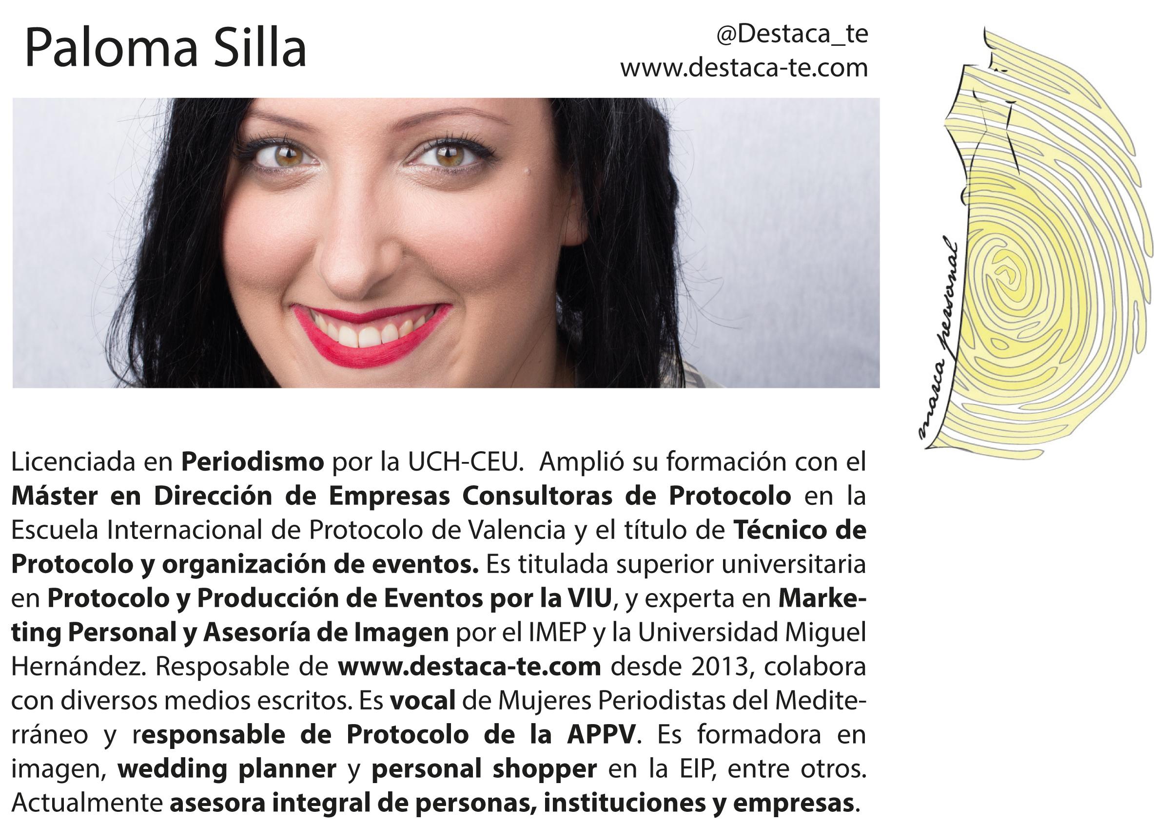 Paloma Silla marca personal branding Valencia comunicacion imagen protocolo