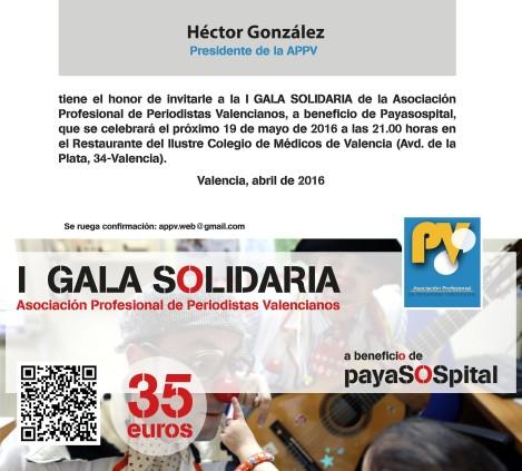 Gala benefica Payasospital Appv periodistas